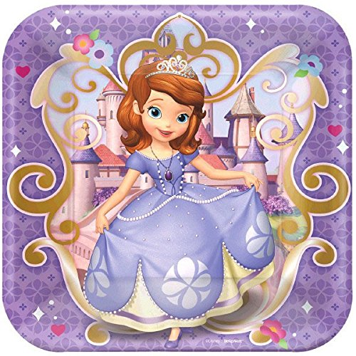 Square Plates | Disney Sofia The First Collection | Party Accessory