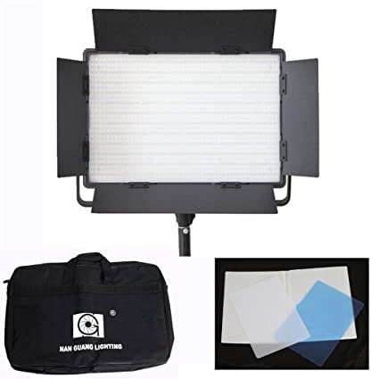 Nanguang CN-1200CSA 3200K-5600K BiColor 1200 LED Dimmable Video Photography Light Lamp for Lighting Studio with Carrying Case Photo Studio & Lighting at amazon