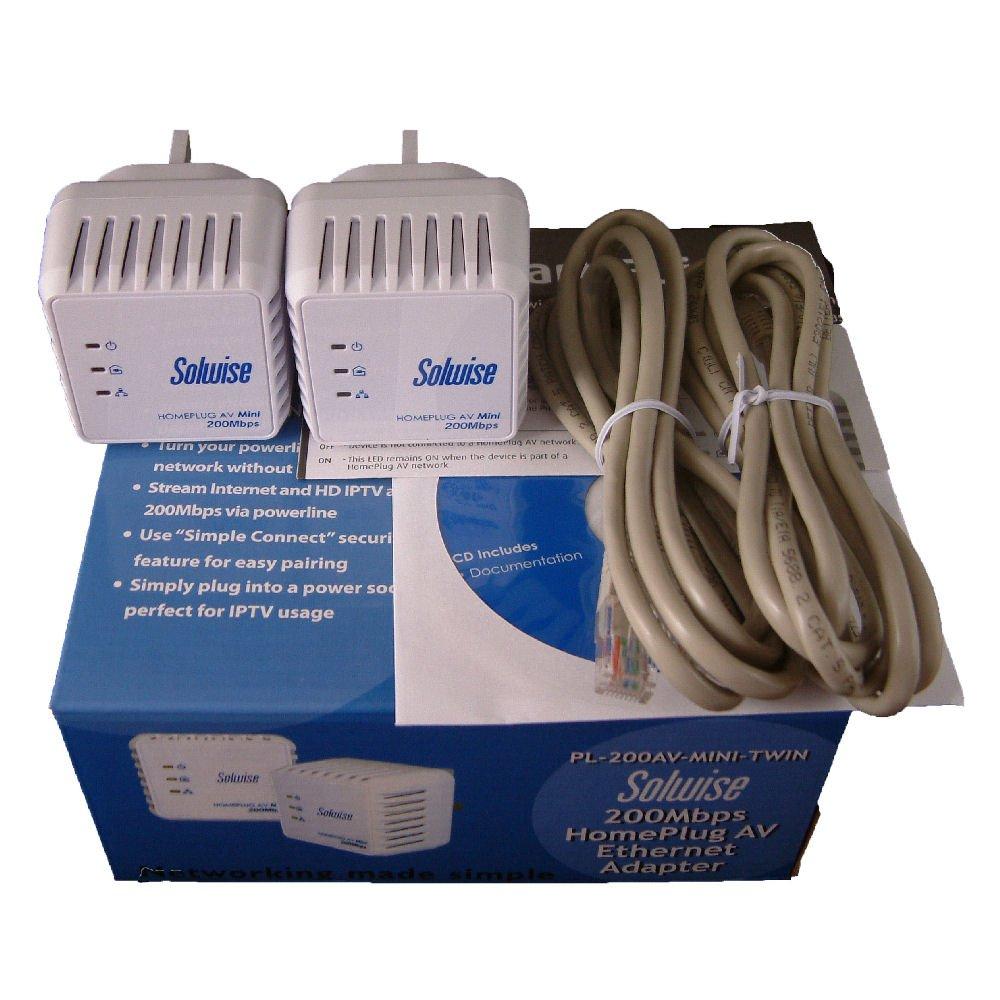Twin Pack 200av Mini Homeplug Electronics Home Plug Wiring