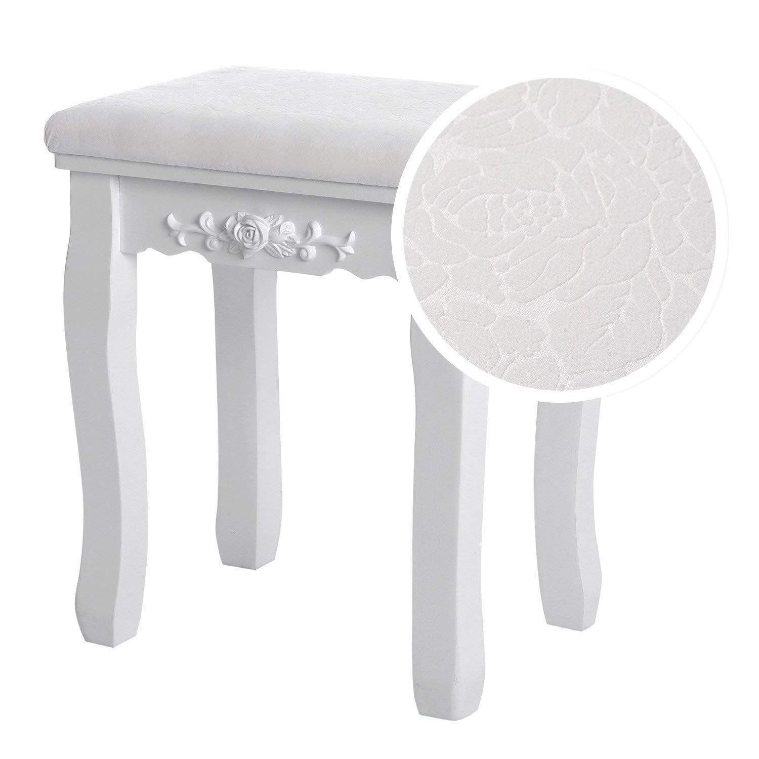 Amazon.com : LRQHHZYQ Dressing Stool, White Dressing Table ...