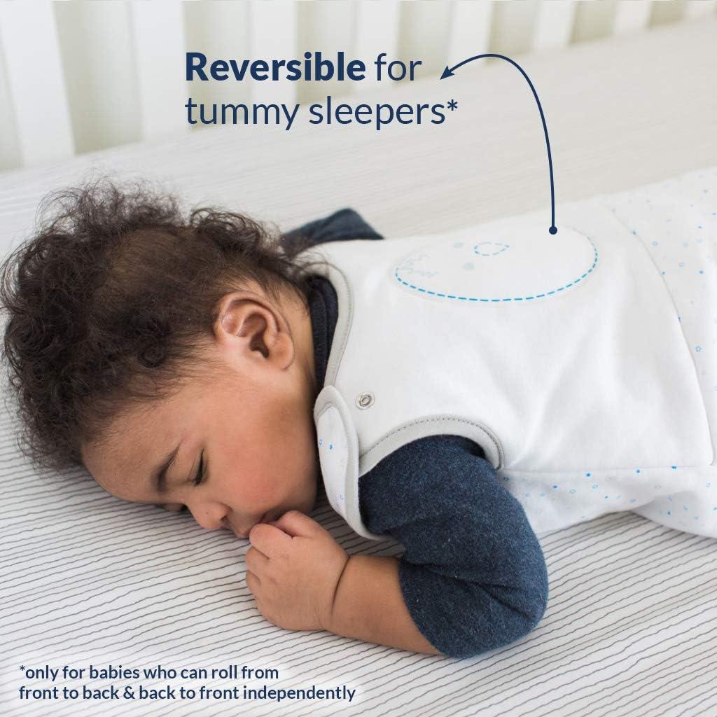Adjustable Cotton Wearable Blanket Baby Sleeping Bag Nested Bean Zen Sack Classic Stardust Blue 6-15 Months