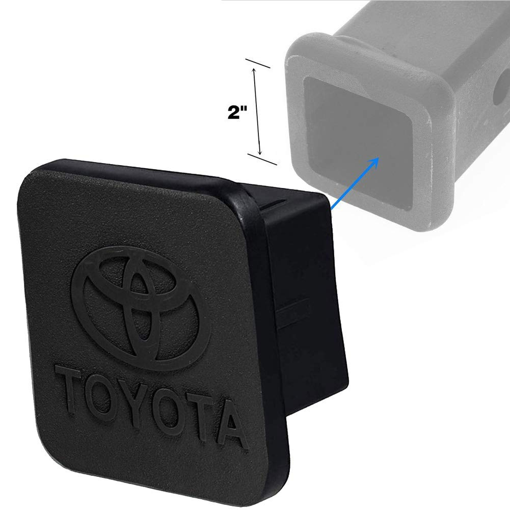 for Toyota Trailer Hitch Cover, Sturdy Rubber Receiver Tube Hitch Plug Tow Receiver Tube Plug Cap Fits to 2'' Tow Hitch Receiver by Car-tools