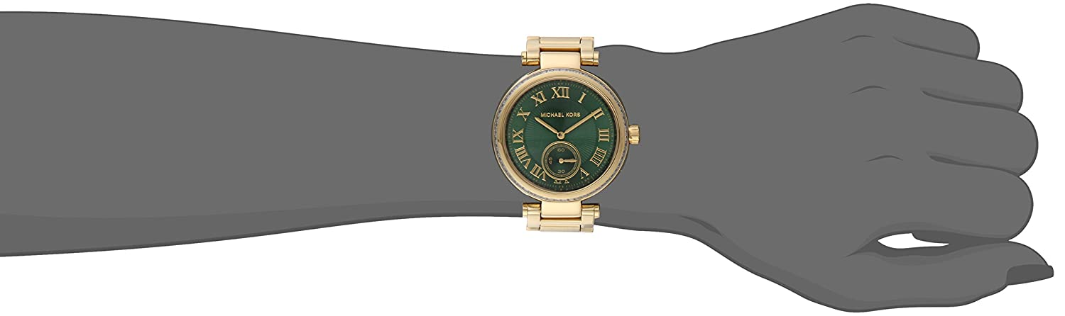 fb5c6504a6f8 Amazon.com  Michael Kors Women s MK6065 - Skylar Gold Green  Michael Kors   Watches