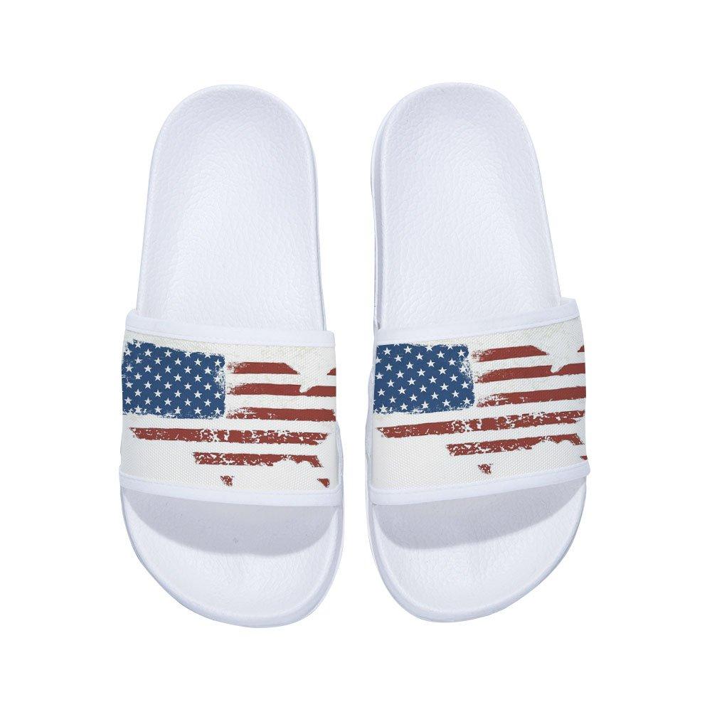 Eric Carl Boys Girls Non Slip Shower Shoes Wash Room Bathroom Floor Slipper with American Flag