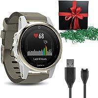 Garmin Fenix 5X Plus Smartwatches, Sapphire, Black w/Black Band