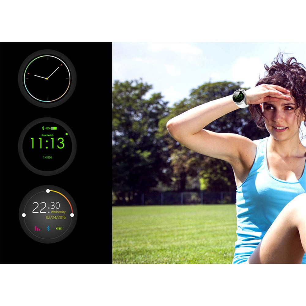 Amazon.com: Bluetooth Smart Watch Cell Phone, Round Touch ...