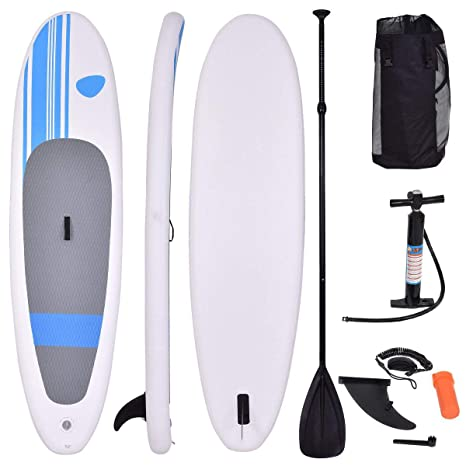 COSTWAY Tabla Hinchable Paddle Surf 305 x 76 x15 Centímetros Sup Board Stand Up con Remo Bomba Bolsa de Transporte