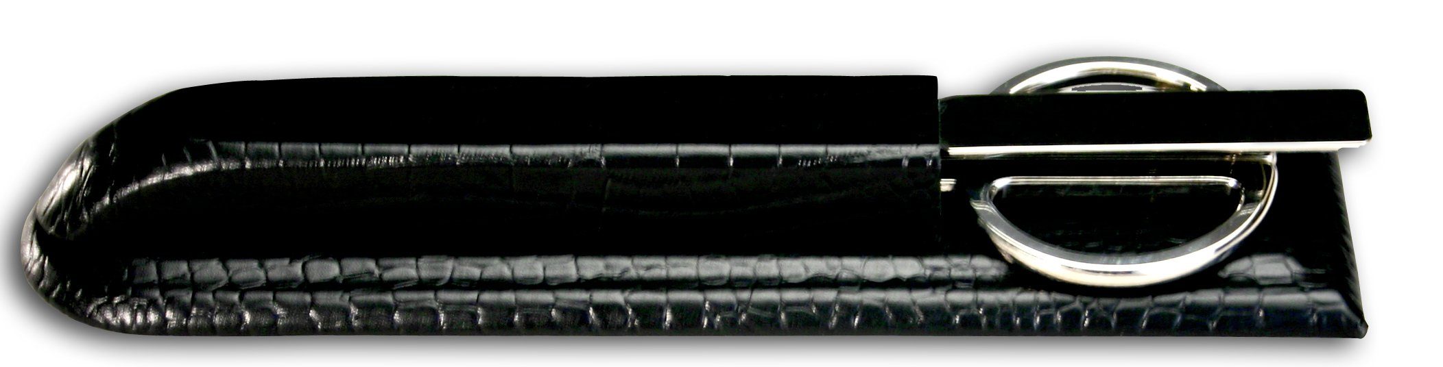Dacasso Black Crocodile Embossed Leather Library Set