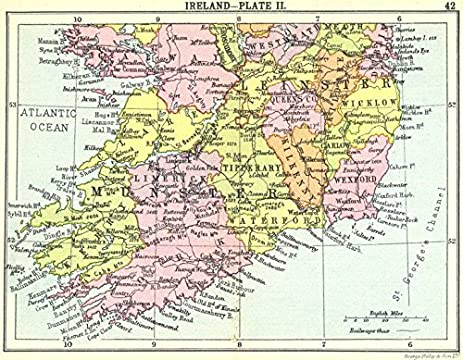 Amazon ireland ireland plate ii small map 1912 old map ireland plate ii small map 1912 old map antique gumiabroncs Images