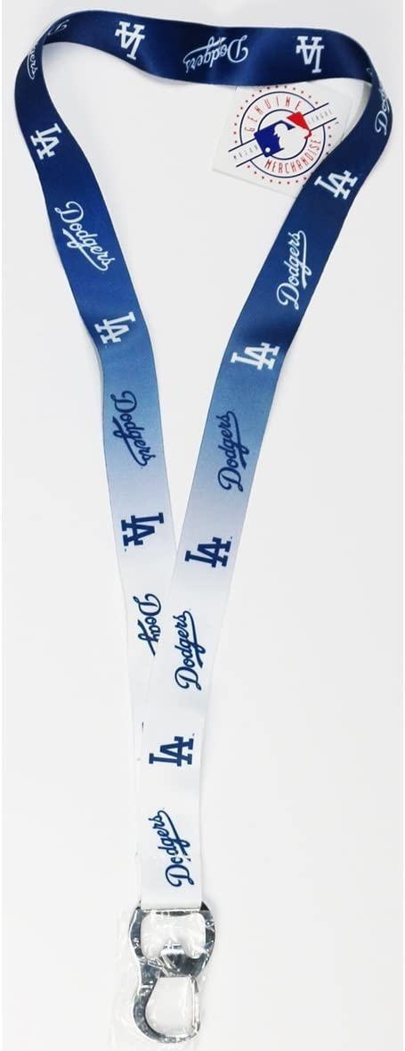 Pro Specialties MLB Team Ombre Lanyard with Carabineer Style Bottle Opener and Soft Polyester Strap