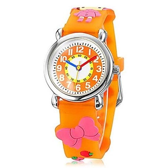 Moda Marca cuarzo reloj de pulsera bebé niños niñas niños reloj poco rojo Cap patrón impermeable relojes: Amazon.es: Relojes