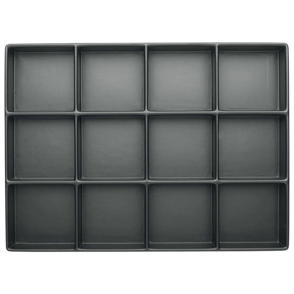 Wetec Tiefzieh-Tray 40 mm, ESD, Fä cher 12 Stü ck, 77 x 79 mm