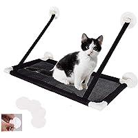 Cat Window Perch, Cat Hammock, Cat Bed Window Mounted Hommock Cat Suction Hanging Pet Window sill Cat Sleeping Bag, 4…