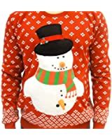 Ugly Christmas Sweater Funny Snowman Carrot Adult Red Sweater