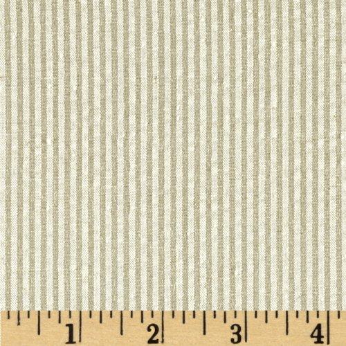 (Robert Kaufman Classic Seersucker Stripe Fabric, Khaki, Fabric By The Yard)