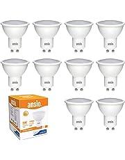 Ampoule GU10 LED blanc chaud, 5W équivalent à 35 watts halogène, non dimmable, 350 lumens, 3000K, 120 ° angle de faisceau-paquet de 10 | LED fourni par Samsung | [classe d'énergie A + +]
