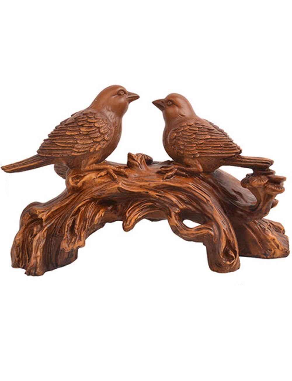 ヨーロッパ樹脂装飾リビングルームテレビキャビネット装飾クリエイティブ動物愛好家アカシア鳥工芸品、マルチカラーオプション (色 : Brown)  Brown B07JWB11VD