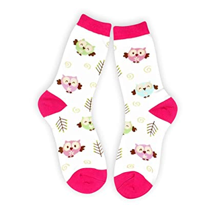 Ace USA Pastel Owls Crew Socks Women's One Size Fits Most at Amazon Women's Clothing store
