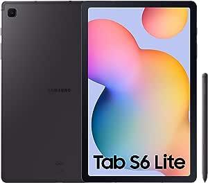 """SAMSUNG Galaxy Tab S6 Lite - Tablet de 10.4\"""" (WiFi, Procesador Exynos 9611, RAM de 4GB, Almacenamiento de 64GB, Android 10) - Color Gris [Versión española]"""