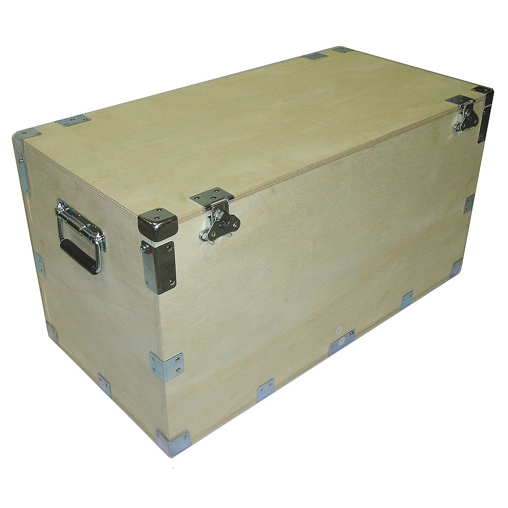 Crate Style 1/2 Inch Bare Wood Supply Trunk Case - Kit Form - Inside Dimensions 21 X 10 X 11 7/8 High