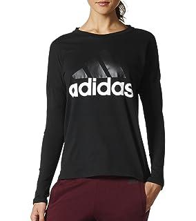 adidas Run LS W, T Shirt A Manica Lunga Donna, Black, XL