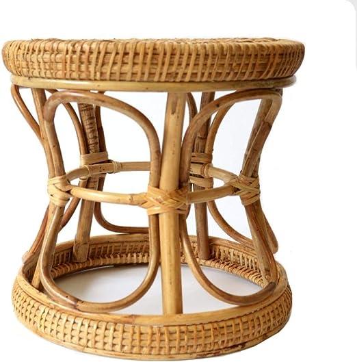 Velliceasay Mesa Sofá Reposapiés,Sofá y Taburete Muebles de Sala de Juegos,Taburete de bambú Hecho a Mano en ratán Taburete casero Retro Simple para niños: Amazon.es: Hogar