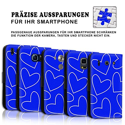 Wallet Book Style Flip Handy Tasche Case Schutz Hülle Schale Motiv Etui für Apple iPhone 6 Plus / 6S Plus - Design Flip MVD221