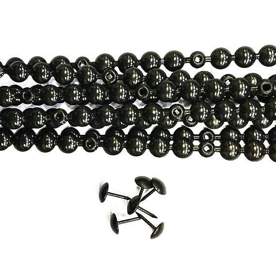10 Tiras de Tachuelas color gris/negro 9,5mm con 20 Tachuelas Combinadas, para Tapicería y reparación de sillones