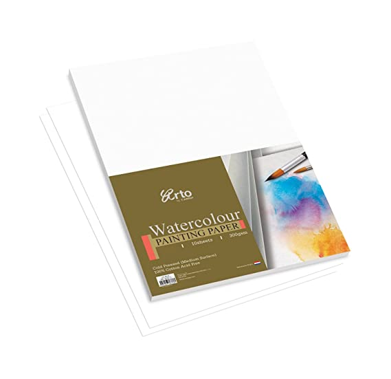 Campap Arto A4 water colour paper pack  100% cotton cold pressed  Watercolour Paper
