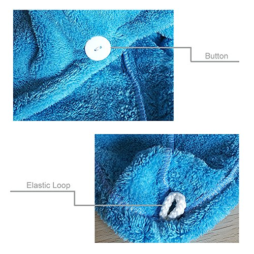 Qinghu 2 Pieces Women's Microfiber Dry Hair Towel Quick Drying Hair Cap Super Absorbent Bath Hat