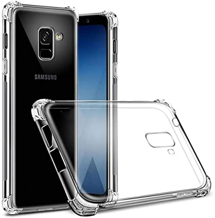 the latest bb3ae a08bf Eurosale Samsung J6 Plus / J6+ Back Case Cover Transparent Anti Drop  Shockproof with Bumper Corner Screen and Camera Protection Samsung J6 Plus  ...