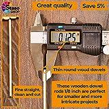 Wooden Dowel Rods 1/8 - Dowels 12inch