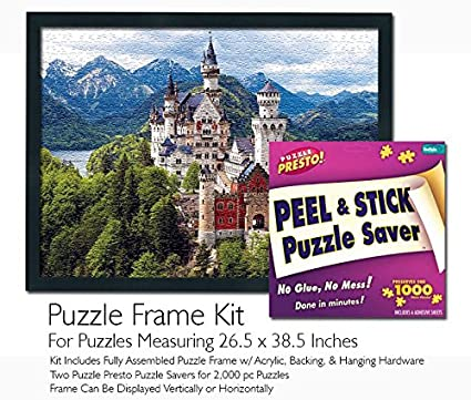 Buffalo Games Jigsaw Puzzle Frame Kit Made to Display Puzzles Measuring 26.5x38.5 Inches