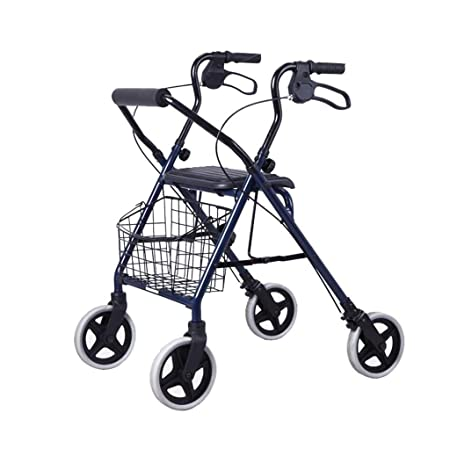 EGCLJ Andador Plegable Walker con Frenos Duales, Movilidad ...