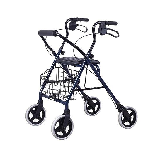 EGCLJ Andador Plegable Walker con Frenos Duales, Movilidad Ayuda ...