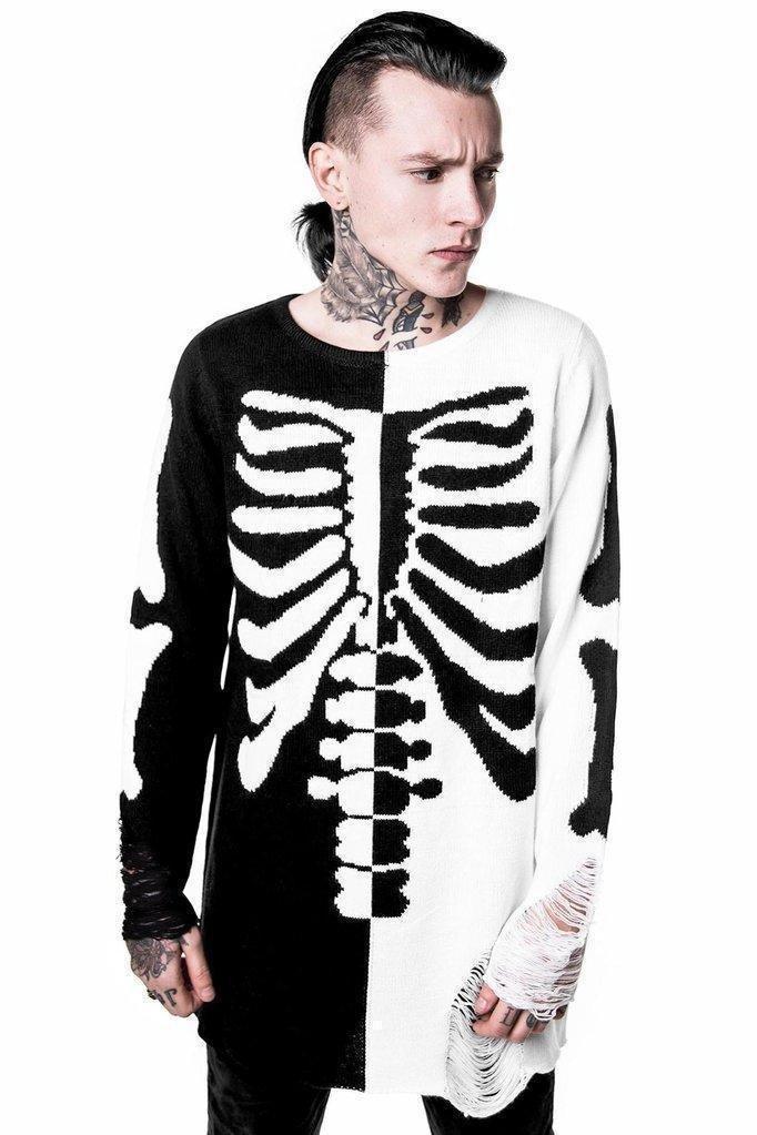 Killstar Skeletor Split Knit Sweater