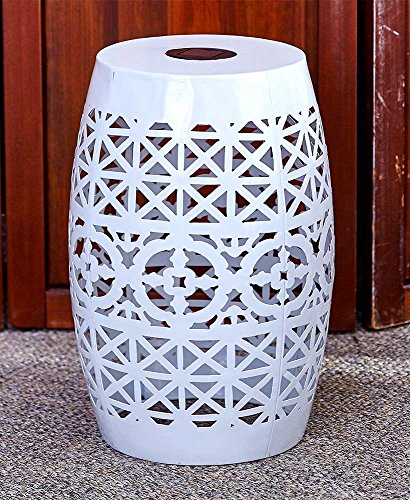 Cheap  The Lakeside Collection Solar Metal Accent Table White