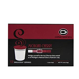Coffee Beanery Michigan Cherry Singlicious® Servings Single-cup Coffee Pack Sampler for Keurig K-cup Brewers