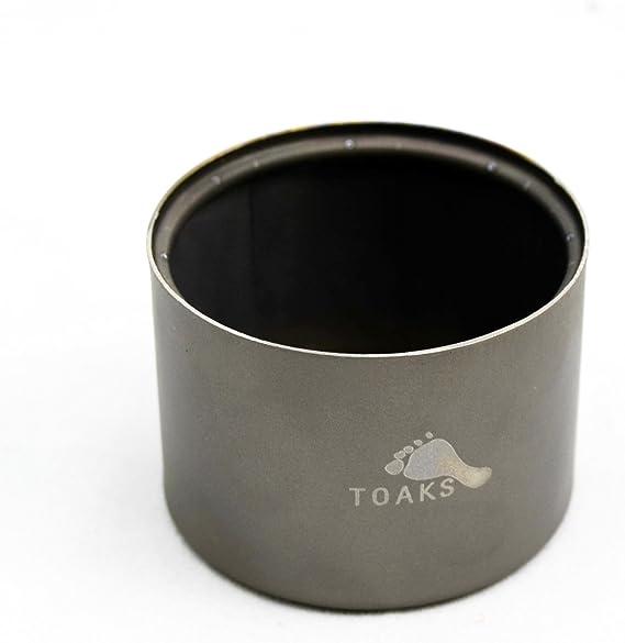 TOAKS Hornillo de alcohol de titanio y soporte, supervivencia al aire libre, viajes (cocina de alcohol)