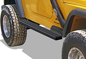 APS Jeep Off-Road Side Steps Armor Custom Fit 1987-2006 Jeep Wrangler Sport Utility 2-Door