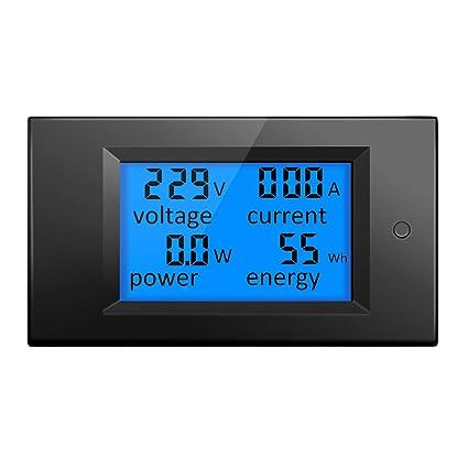 ELEGIANT AC 80-260V 20A Digital Current Voltage Amperage LCD Power Panel Meter Power Energy