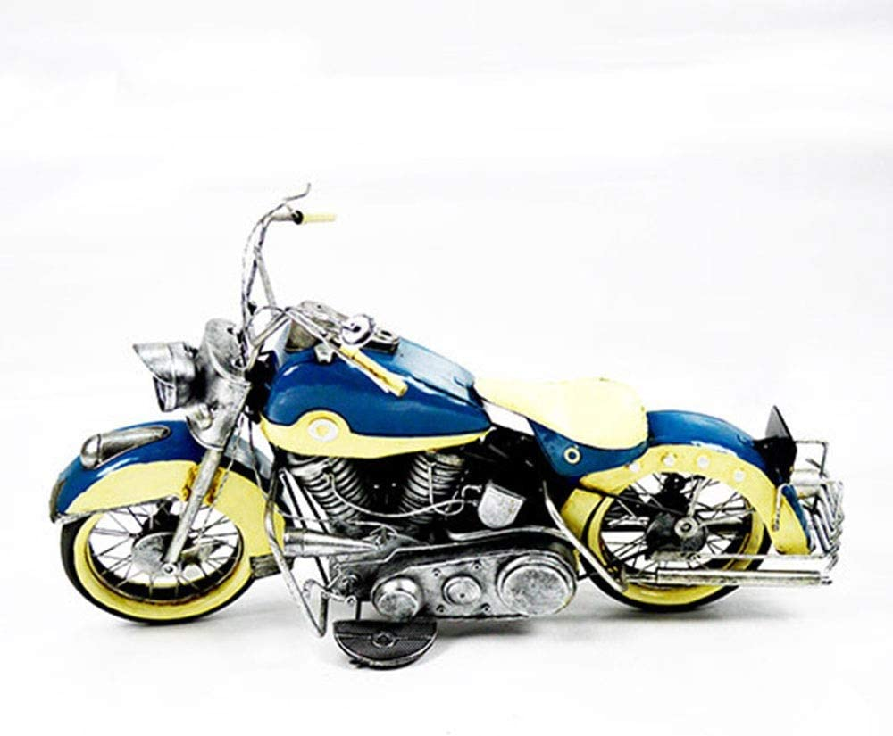 RuiXia Home Decoration - Large Motorcycle Model Decoration, Living Room Bedroom Decoration, Photography Props, Handmade Desk Decoration, Metal Crafts (622936cm) Wall Decoration