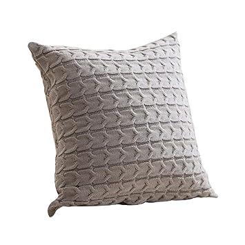 MOGOI Funda de cojín de algodón Tejido, Cuadrada, Decorativa ...