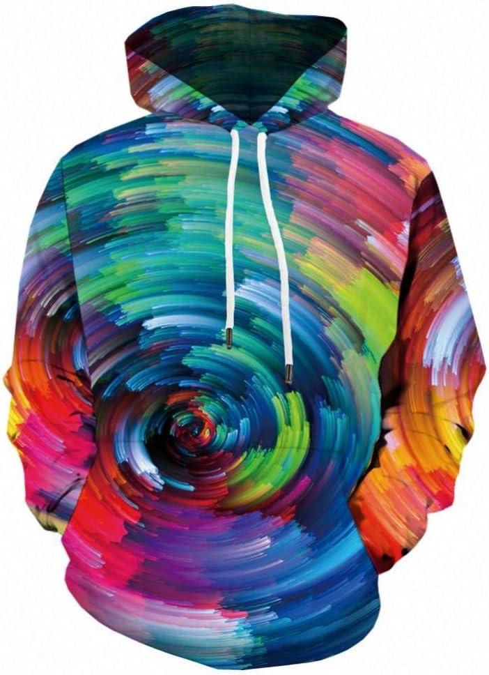 KSANM 3D Psychedelic Hoodies Men Vortex Printed Hoodie Fantasy Anime Sweatshirt Long Colorful Mens Clothing