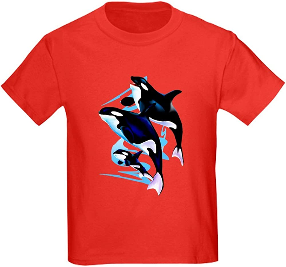 CafePress Orca Family Kids Dark T Shirt Kids Cotton T-shirt 462745376