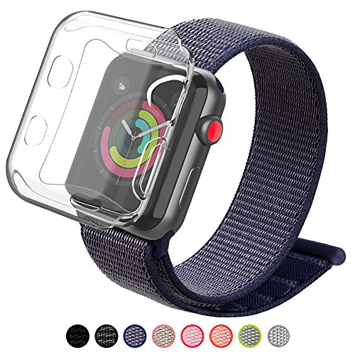X Series Watch - YIUES Compatible Apple Watch Band 38mm 42mm Case, Breathable Nylon Adjustable Sport Loop Replacement iWatch Band Compatible Apple Watch Series 3/2/1 …
