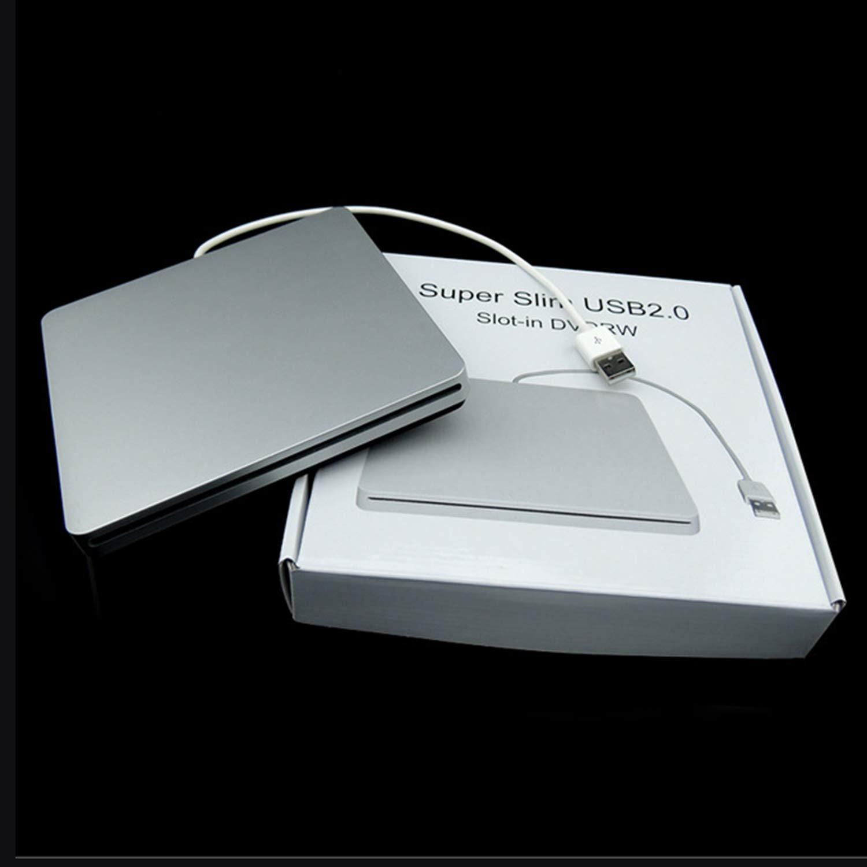 Laptop Type Suction Super Slim USB 2.0 Slot in External DVD Burner External Drives Box Enclosure Case by ToGames