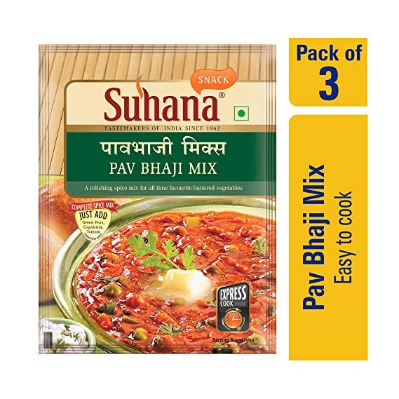 Suhana Pav Bhaji | Spice Mix | Easy to Cook - Pack of 3
