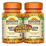 Cheap Sundown Naturals Biotin 7500mcg 75 + 75 Twin Pack, 150 Count
