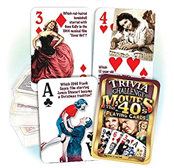 1940s Movies Trivia Playing Cards: Birthday or Anniversary Gift
